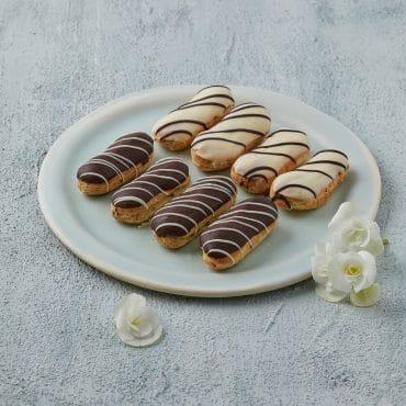 מיני אקלר במילוי קרם פטיסייר / שוקולד